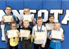 Elementary Viking Valor Students are: (Front row, left to right): Taryn Myrvik, Nevyn Genzler, Mason Javers and Jade Abraham. Back: Tate Peterson, Nathan Genzler and Susy Sazo.