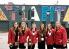 Minneota's representatives in Atlanta were: (left to right) Katie Konold, Tara Thooft, Isabelle Hennen, Molly Krog, Natalie Bot and Hannah Brewers.