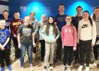 The students involved were, front row, left to right: Logan Pohlen, Autumn Anderson, Ava Panka, Madison Minnehan, Anna Krier. Back row, left to right: Creed Stassen, Quinton Anderson, Breanna Meyer, Libby Sussner, Caleb Sterzinger, Logan Schuelke, Audra Buysse.