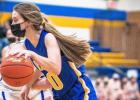 McKenna Yost played a solid all-around game for Minneota, contributing stellar defense and six points on offense.