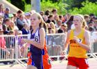 Grace Drietz runs in the 800-meter run at the state.