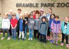 Kindergarten, first and second graders of St. Edward School of Minneota visited the Bramble Park Zoo in Watertown, SD recently.