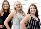 Candidates are: (left to right) Jada Sterzinger, Abby Rost and Anna Krier.