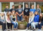 Homecoming candidates are: (Front row, left to right) Emily Pohlen, Morgan Kockelman, Sydney Larson, Lizzy Gillingham, Brooklyn Nelson and Lydia Sussner. Back: Ryan Vlaminck, Shawn Buysse, Ty Lipinski, Thomas Hennen, Isaac Laleman and Jared Josephson.