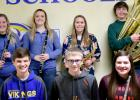 Senior High Honor Band participants from Minneota were: (front row, left to right) Reid Fier, Jacob Haen and Kathrin Walerius. Back Row: Brooklynn Downing, Sydney Larson, Laura Knutson and Joshua Myhre.