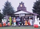 Halloween displays are starting to go up in the area as October begins. This display on County Road 10 east of Minneota has been drawing a lot of looks from passersby.