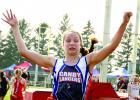 RyAnn Hansen bugged eyed her way to third.