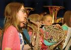 Playing the saxophone was Autumn Dovre.