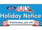 Recycling and garbage will be picked up on Thursday, July 5 in Minneota