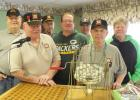 Members of the VFW that helped with bingo include: (front row, left to right) Fran Strum and Mike Kern. Back Row: Jerry Kloos, Leon Halling, Jim Klug, John DeSmet and Chuck Drown.
