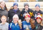 The Minneota girls' golf team includes: (front row, left to right) Natalie Bot, Heidi Guttormsson, Nicole Evers and Laura Knutson. Back: Hannah Brewers, Allison Citterman, Brooklynn Downing and Carolyn Hoffmann. Staff photos by Byron Higgin.