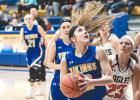 The Minneota Girls continued their hot shooting Tuesday night, lighting up the scoreboard on their way to an 80-48 victory over the Lac qui Parle Valley Eagles.  After topping 100 points the night before, the Vikings showed no signs of slowing down.  Led by Natalee Rolbiecki's (pictured) 21 point effort and Abby Hennen's 19 point evening, the Vikings used a balanced inside-out attack to notch the victory.