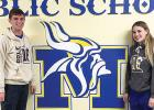 Minneota seniors Nolan Boerboom (left) and Morgan Hennen (right) have been named Minneota High School's nominees for the Triple AAA award.