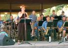 The Route 68 Big Band of Minneota was in concert Monday night, outdoors, in Canby. Paula Dovre sang solo for the band.