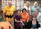 Duane Peterson was Charlie Brown (left) with Diane Breyfogle, Moriah Reiss, Sue Stienessen, Kerry Eischens and Amanda Pesch all taking on characters.