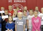 St. Edward School fire prevention poster contest winners.