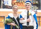 Queen Emily Rybinski and King Cole Sanow.