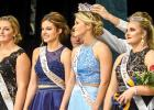 Placing the Homecoming Crown on Lizzy Gillingham's head was Tate Walerius. The other candidates are: (left to right) Sydney Larson, Morgan Kockelman and right, Princess Emily Pohlen.