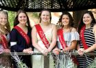 Vying for Boxelder Bug Day Queen are: (left to right):   Klaire Banks, Jodi Buysse, Raeann Bruner, Jada Nielsen and Katie Walerius. The new queen and her court will be chosen at the Saturday Night Queen Pageant.