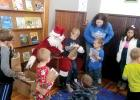 The kids gathered around Santa Claus when he made an appearance at the Minneota Public Library on Saturday.