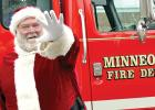 Santa Claus will again arrive on the Minneota Fire Department truck to the Bethel Fellowship Church in Minneota.