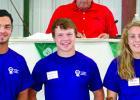 Three of the scholarship winners were: (left to right) Leo Buysse, Kesmond Willert and Jordan Moorse.