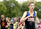 Sean Dilley, right, finally has gotten back into the race after injury and illness kept him out most of the year. He contributed to the Canby/Minneota attack on Thursday at Granite Falls.