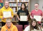 Junior/Senior High Viking Valor students are: (Front row, left to right) Gus VanHecke and Jazmyne Hanson. Back: Madison Sorensen, Jacquelin Monzon, and Kyleigh Ingalls.