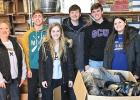 The Hope Lutheran Teen Power group dropped off many boxes and bags of donated shoes at Schueler Shoes in St. Cloud for the Soles4Souls drive last year. Left to right: Coordinator Roberta Josephson, Blake Reiss. Ellie Pesch, Jackson Jeremiason, Nolan Boerboom and Olivia Mahan-Deitte.