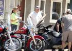 Motorcyclists took a break in Minneota at the City Hall Bar and Grill and there were streets and lots lined with motorcycles on Saturday.