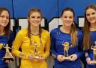 They are (left to right): Lydia Sussner, Abby Hennen, Morgan Kockelman and Natalee Rolbiecki.
