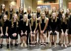 On Wednesday night at the annual volleyball banquet, the squad posed for a photo.