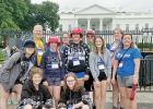 On the trip were: (Front row, left to right) Allison Johnson and Laura Schmig. Middle: Kara Schmig, Norah Fadness, Morgan Moorse, Morgan Wersal and Ellie Schmidt. Back: Chris Schuckhart, Cherri Schmig, Tyler Schmidt and Dawn Moorse.