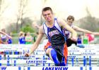 Carter Wente on the hurdles.