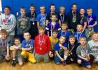 Minneota youth wrestling team at the Windom tournament.