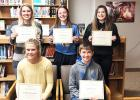 High School: (Front row, left to right) Lizzy Gillingham and Andrew Lipinski. Back: Morgan Hennen, Aleksa Sanow and Katie Walerius.