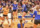The Minneota Volleyball team celebrated their Section 3A North Championship after defeating Wabasso.