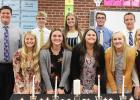 New members of the Minneota National Honor Society include (front row, left to right): Klaire Banks, Audra Buysse, Olivia Mahan-Deitte, Abby Rost and Emily Rybinski. Back Row: Braxton Downing, Jacob Haen, Abby Hennen, Braeden Panka and Caleb Sterzinger.