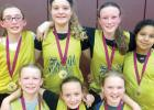 They are: (Left to right) Front row: Grace Hennen, Lyzah Sussner and Mariah Buysse. Second Row: Teslyn Saltzer, Brooke DeSmet, Dakota Hennen and Jerlyn Calderon.