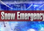 A Snow Emergency has been declared for the City of Minneota.