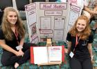 Showing off their gold winning project was Tara Thooft and Natalie Bot.