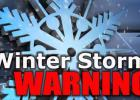 A winter storm warning is in effect until 9 p.m. Tuesday night.